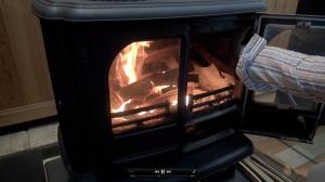6、着火から15分後の様子 中割の薪を追加の様子